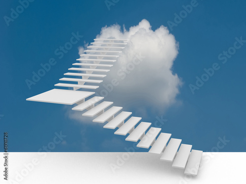 The success ladder. 3d illustration