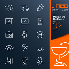 Lineo White & Light - Medical and Healthcare outline icons
