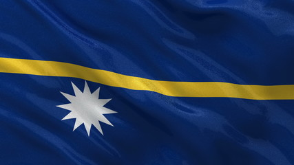 Flag of Nauru waving in the wind - seamless loop