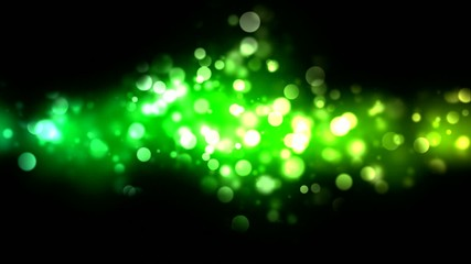 Abstract Particle Background - Loop Green
