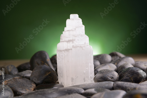 Mineral gypsum selenite