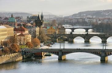 Prag Brücken von oben - Prague bridges aerial view 16