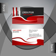 Abstract professional red business card template