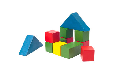 children's building blocks isolated on white
