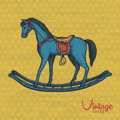 vintage blue horse toy