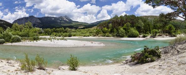 Valley of river Verdon river, Provence, France