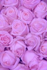 Pale pink wedding flowers