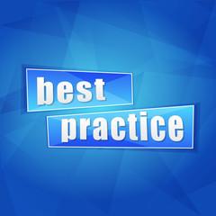 best practice, flat design