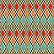 Seamless Rhombus Knitting Pattern. Vector illustration.