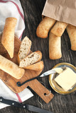 Ciabatta sticks and butter
