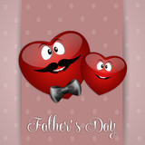illustration of two heart for Father's Day