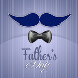 illustration for Father's Day with mustache