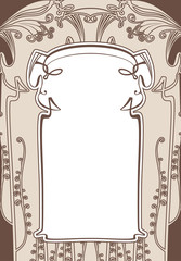 Art nouveau frames with space for text.
