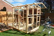 Childs garden play house construction