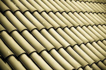Gray tiles roof texture architecture background