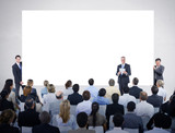 Men Holding White Board in Business Presentation