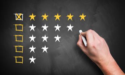 Fünf Sterne Bewertung