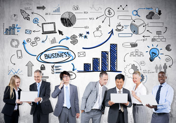 Group of Business Person Learning Economic Trends