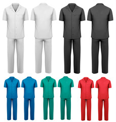 Sets of medical/doctor clothes. Vector.