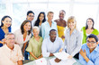 Group of Diverse Business Colleagues Enjoying Work