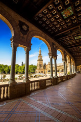 Spanish Square (Plaza de España) in Sevilla, Spain