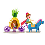 prince driving pineapple carriage