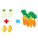 vegetables to learn mathematics