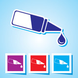 Colourful editable icon of Eye Drop