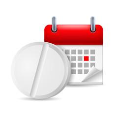 Pill and calendar