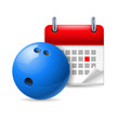 Bowling ball and calendar