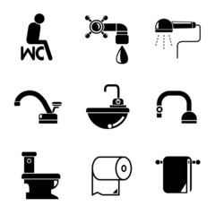 WC, toilet icons