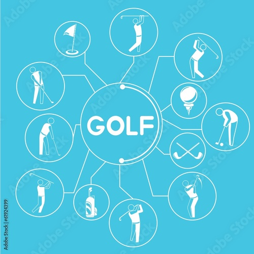 golf, golf info graphics, blue theme