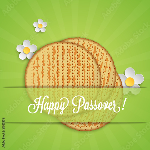 Jewish Passover holiday card design