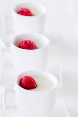 Sweet dessert panna cotta jelly