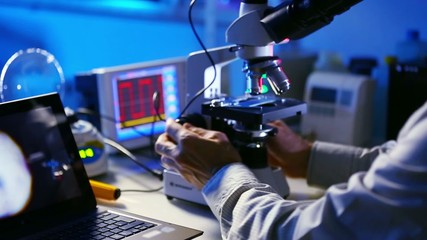 Research on microscope samples found at the crime scene