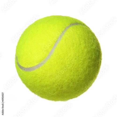 Fototapeta Tennis Ball isolated on white background. Closeup