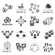communication icons, network icons