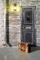 Suitcase at the door