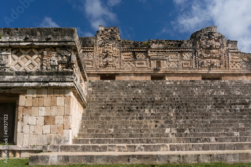 Quadrangle nunnery in Uxmal, Mexico