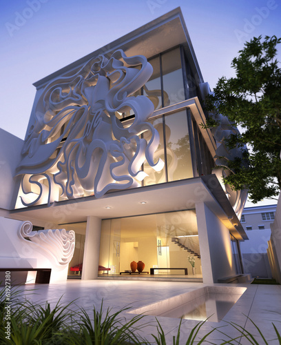 Elegant contemporary building