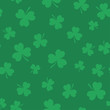 Clover seamless pattern for St. Patrick's Day. Flat style design