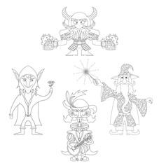 Fantasy heroes outline, set