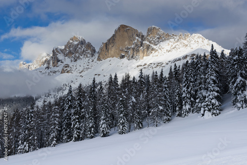 Winter Landscape in the Dolomiti