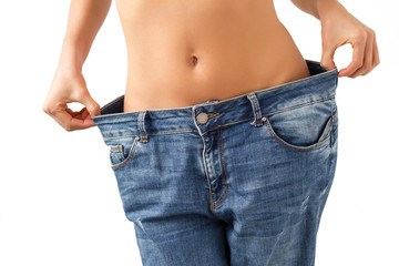 Jeans too big after successful diet
