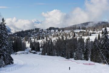 Winter Landscape in the Dolomiti