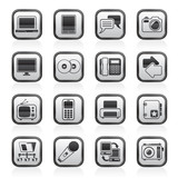 Communication and connection technology icons - vector icon set