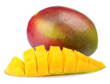 Fresh mango isolated on white