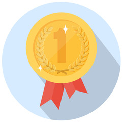 award flat illustration
