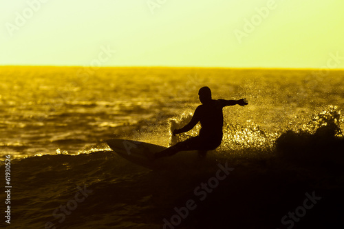 Backlight Silhouette Surfer