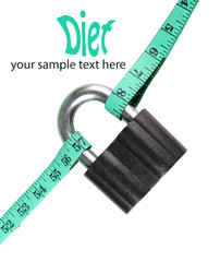 Conceptual photo of unlocking  secret of weight loss, Isolated